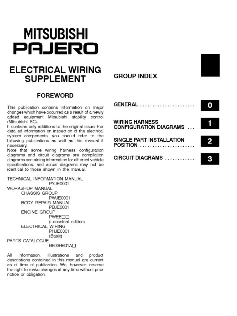 2001 pajero wds pdf fuse electrical power supply [ 768 x 1024 Pixel ]