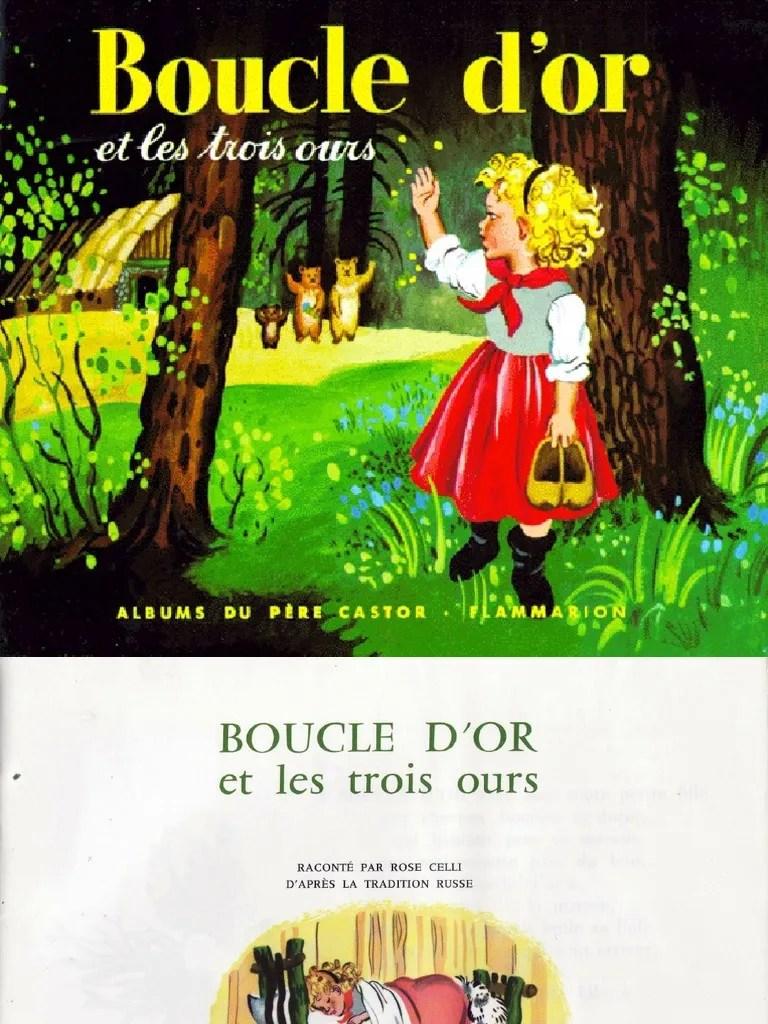 Boucle D Or Et Les Trois Ours Père Castor : boucle, trois, père, castor, Boucle, Trois, Ours.pdf