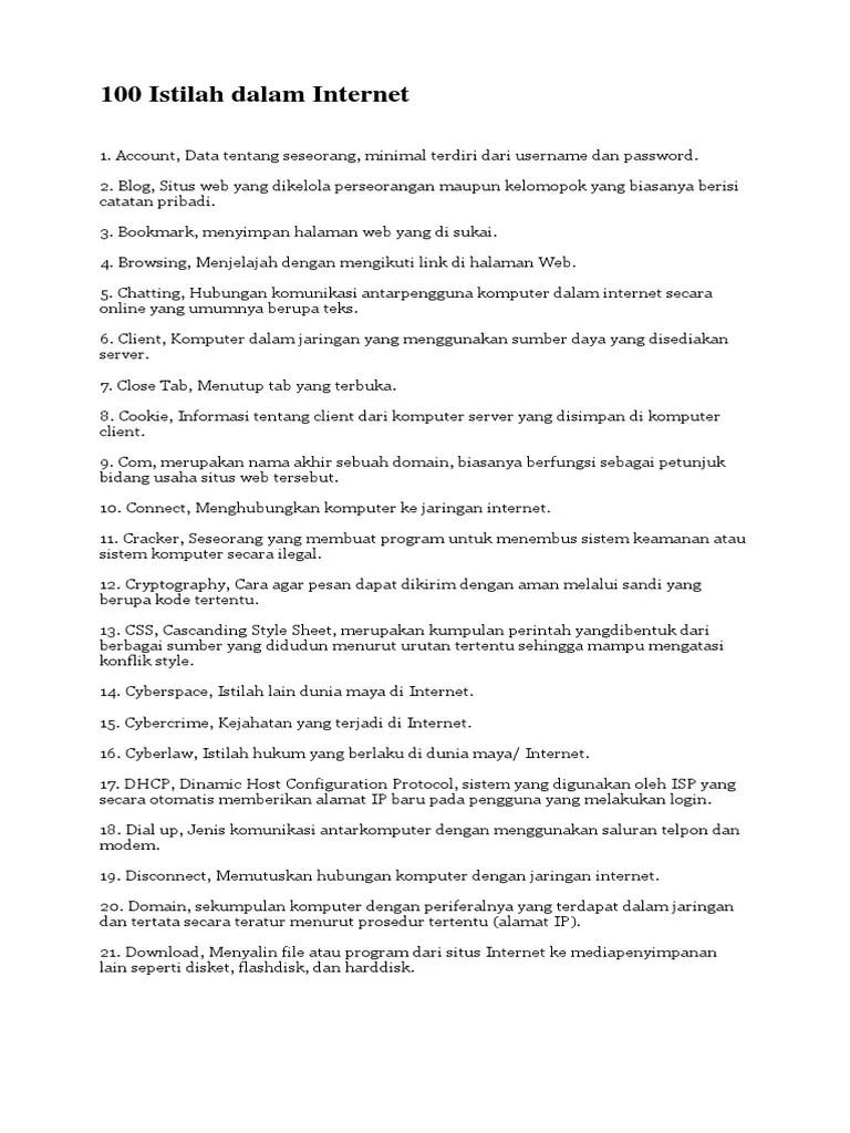 20 Istilah Internet Beserta Pengertian | annisasetianingrum91