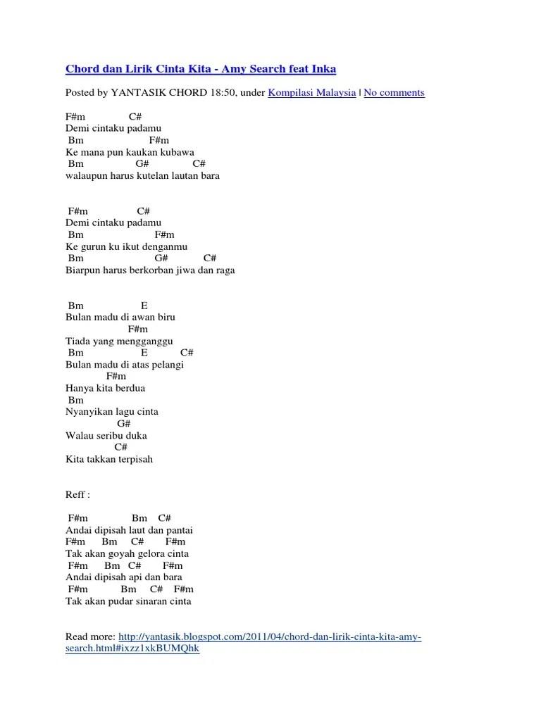 Chord Bulan Madu : chord, bulan, Chord, Lirik, Cinta