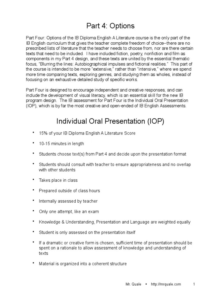 Iop Guidelines and Ideas 12 14 | Educational Assessment | Communication