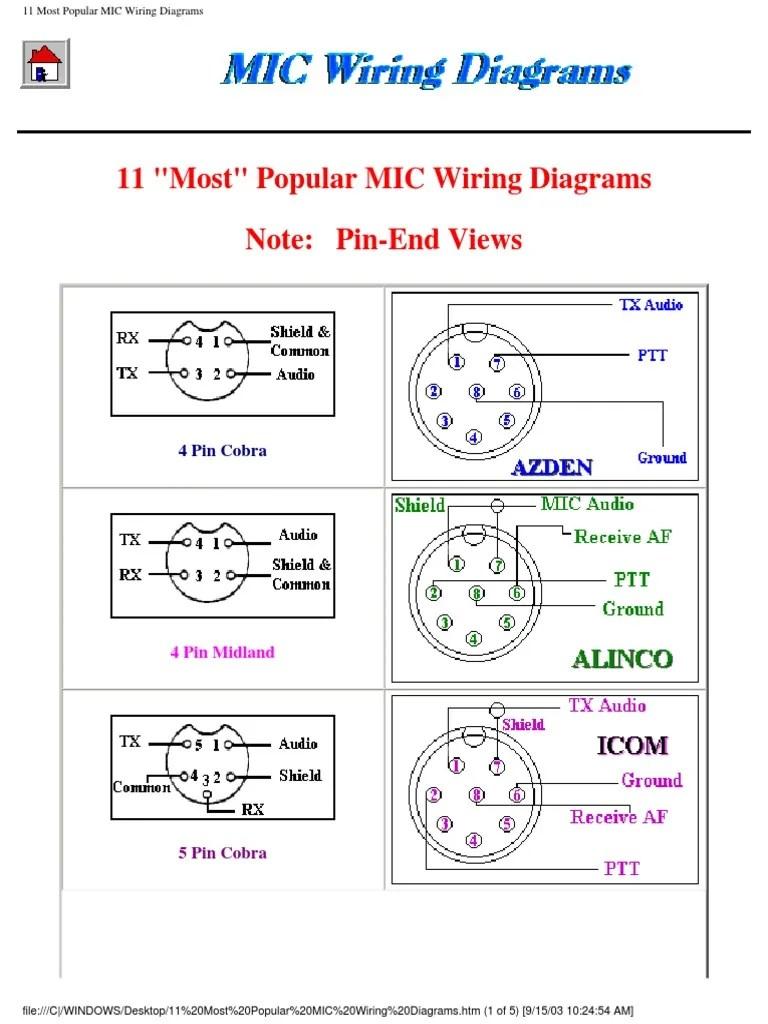 medium resolution of mic wiring diagrams microphone transmitter 5 pin microphone wiring diagram
