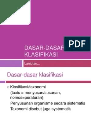Dasar Klasifikasi : dasar, klasifikasi, Dasar, Klasifikasi