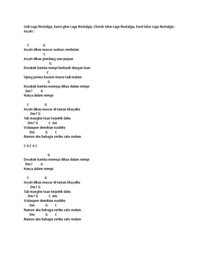 Kunci Gitar Senandung Rembulan : kunci, gitar, senandung, rembulan, Chord, Gitar, Nostalgia, Panbers, Kenangan