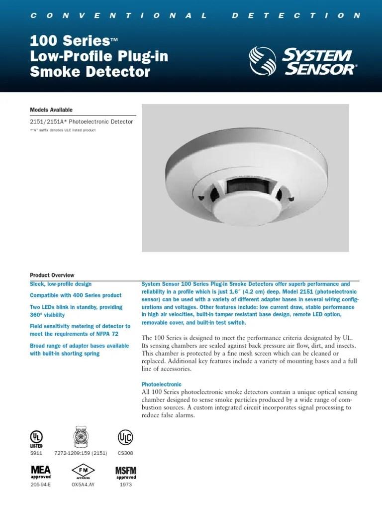 smoke detector 2151 wiring diagram