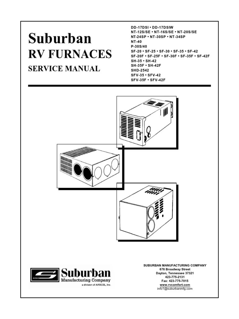 medium resolution of suburban rv furnaces service manual thermostat ignition system atwood rv furnace wiring diagram rv heater wiring diagram