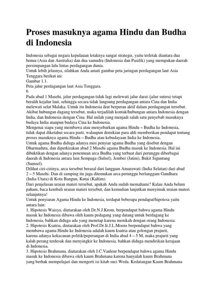 Proses Masuknya Hindu Budha Ke Indonesia : proses, masuknya, hindu, budha, indonesia, Proses, Masuknya, Agama, Hindu, Budha