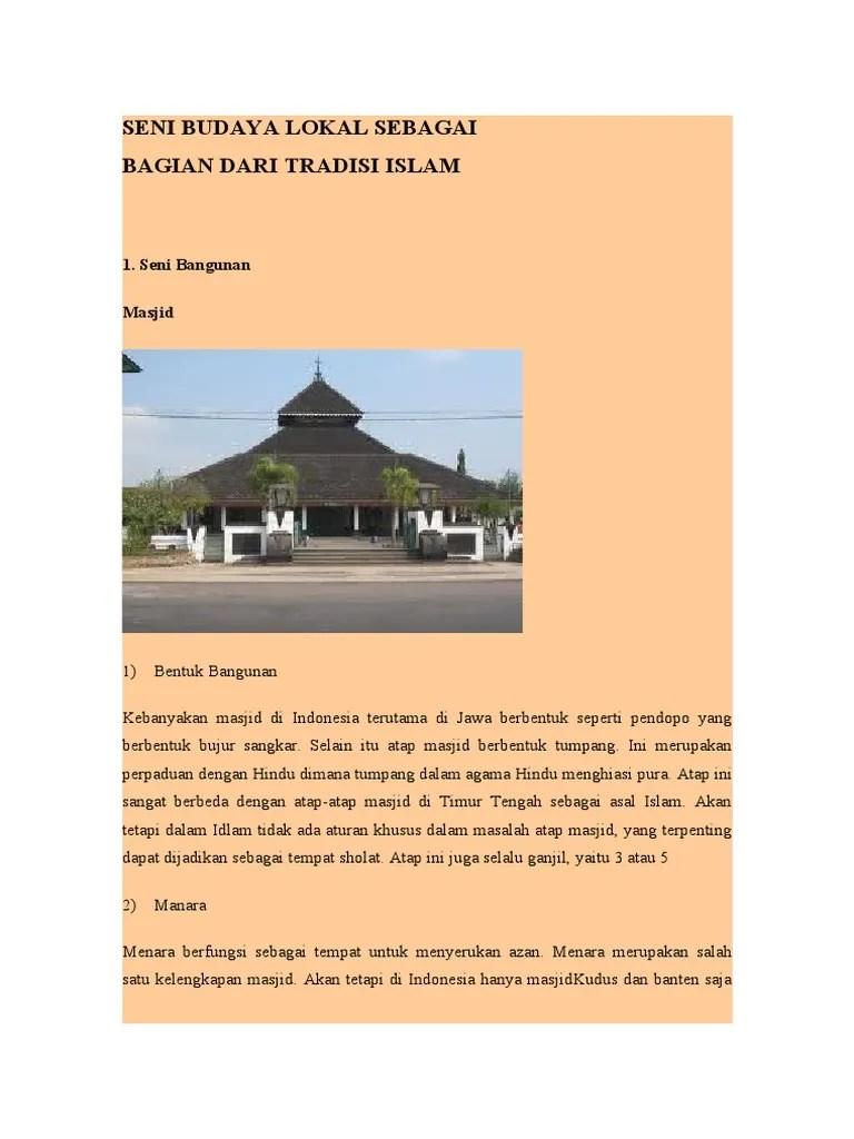 Seni Budaya Lokal Sebagai Bagian Dari Tradisi Islam : budaya, lokal, sebagai, bagian, tradisi, islam, 134471995, Akulturasi, Budaya, Islam, Indonesia