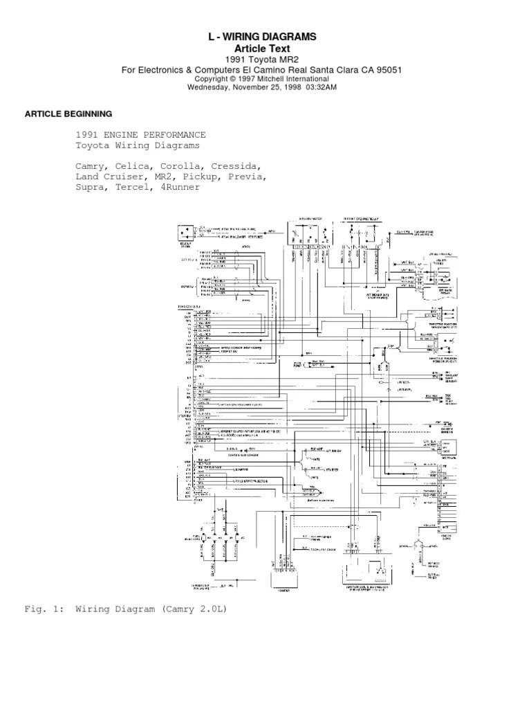 1991 Toyota 4runner Engine Diagram