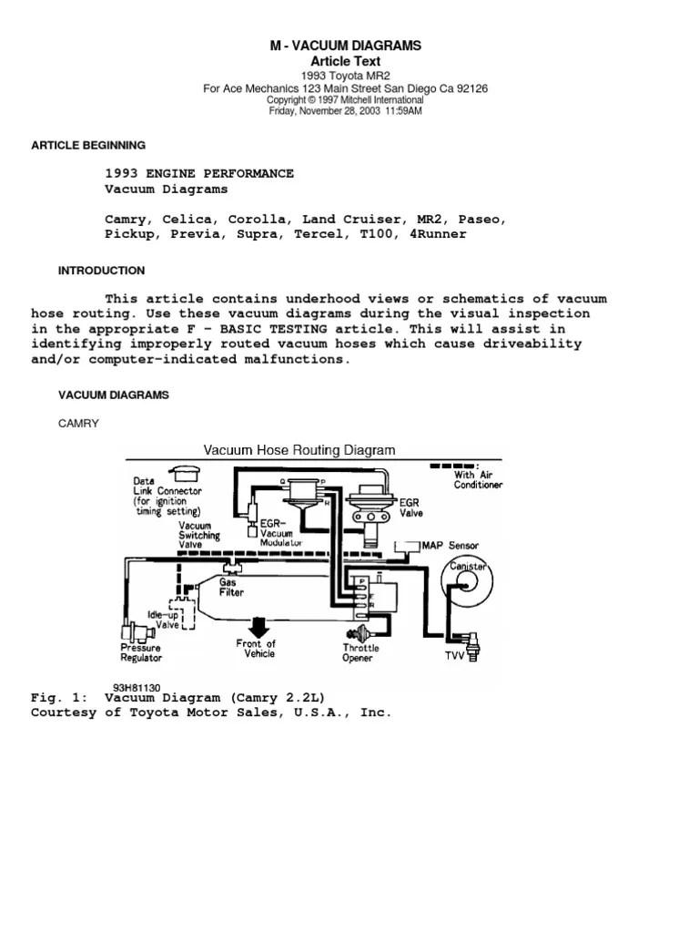 medium resolution of 1992 toyota 3400 engine vacuum hose diagram