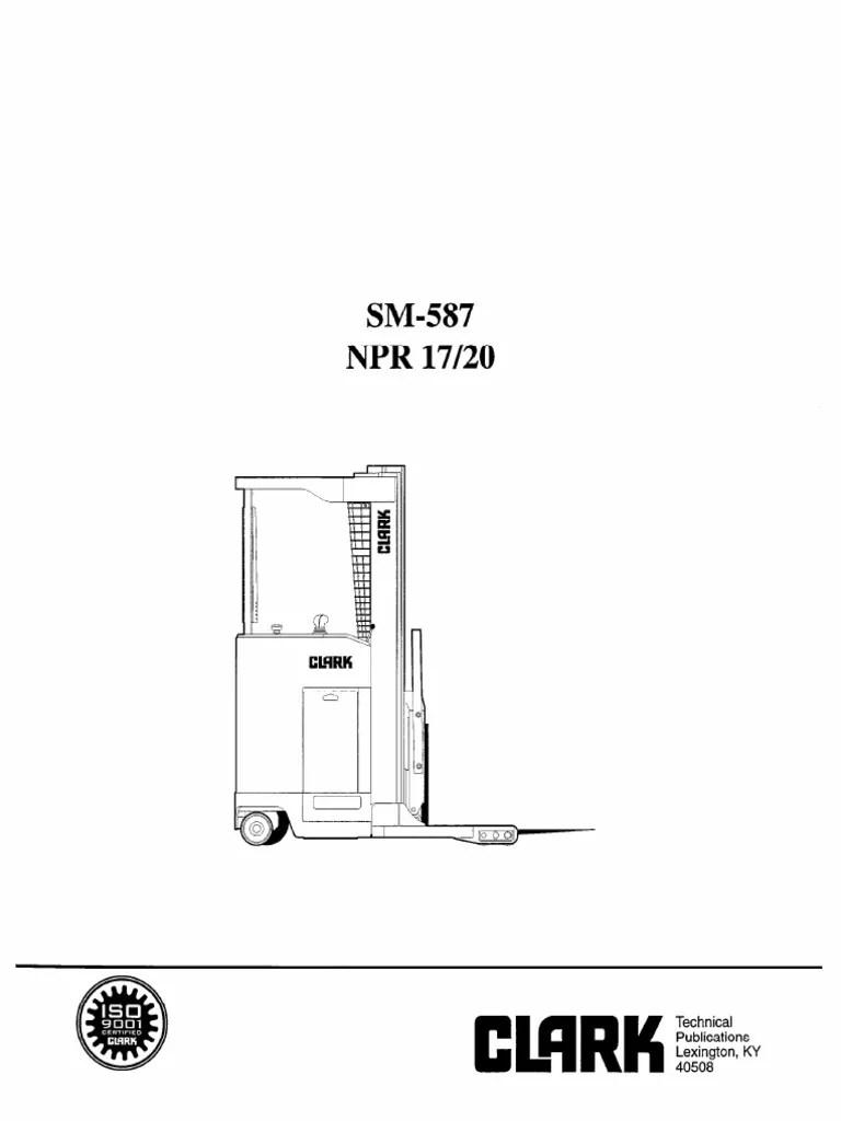 11883734-Clark Npr 17 Npr 20 Forklift Service Repair