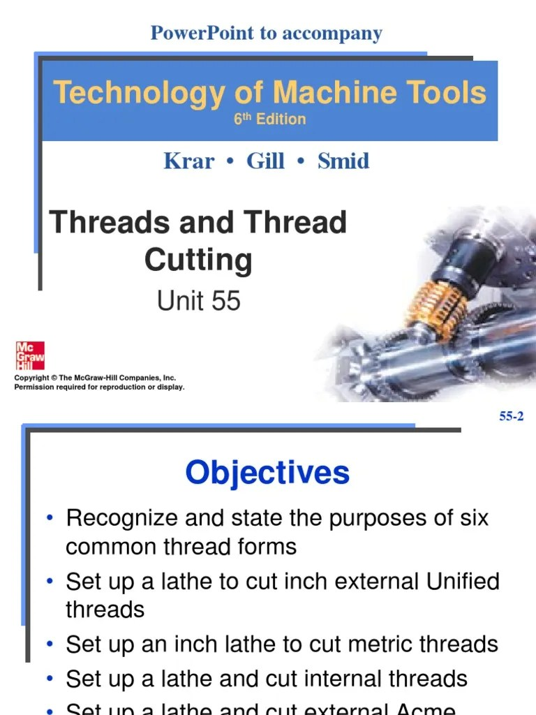 also unit threads and thread cutting engineering tolerance screw rh scribd