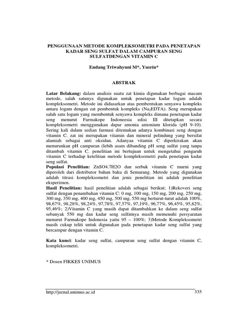 Titrasi Kompleksometri Pdf : titrasi, kompleksometri, Jurnal, Kompleksometri