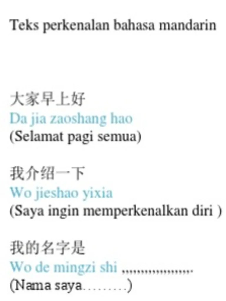 Perkenalan Dalam Bahasa Mandarin : perkenalan, dalam, bahasa, mandarin, Zaoshang