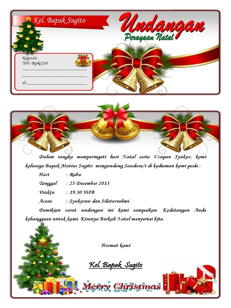 download undangan natal word | UNDANGAN.ME