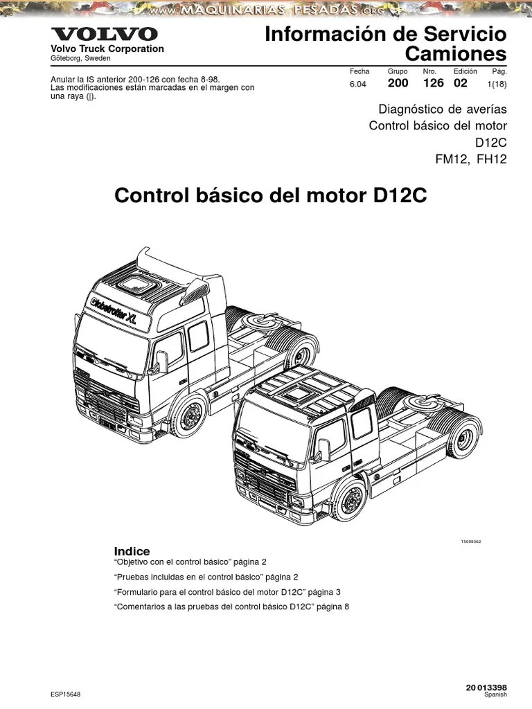 Manual Control Basico Motor Camion d12c Volvo
