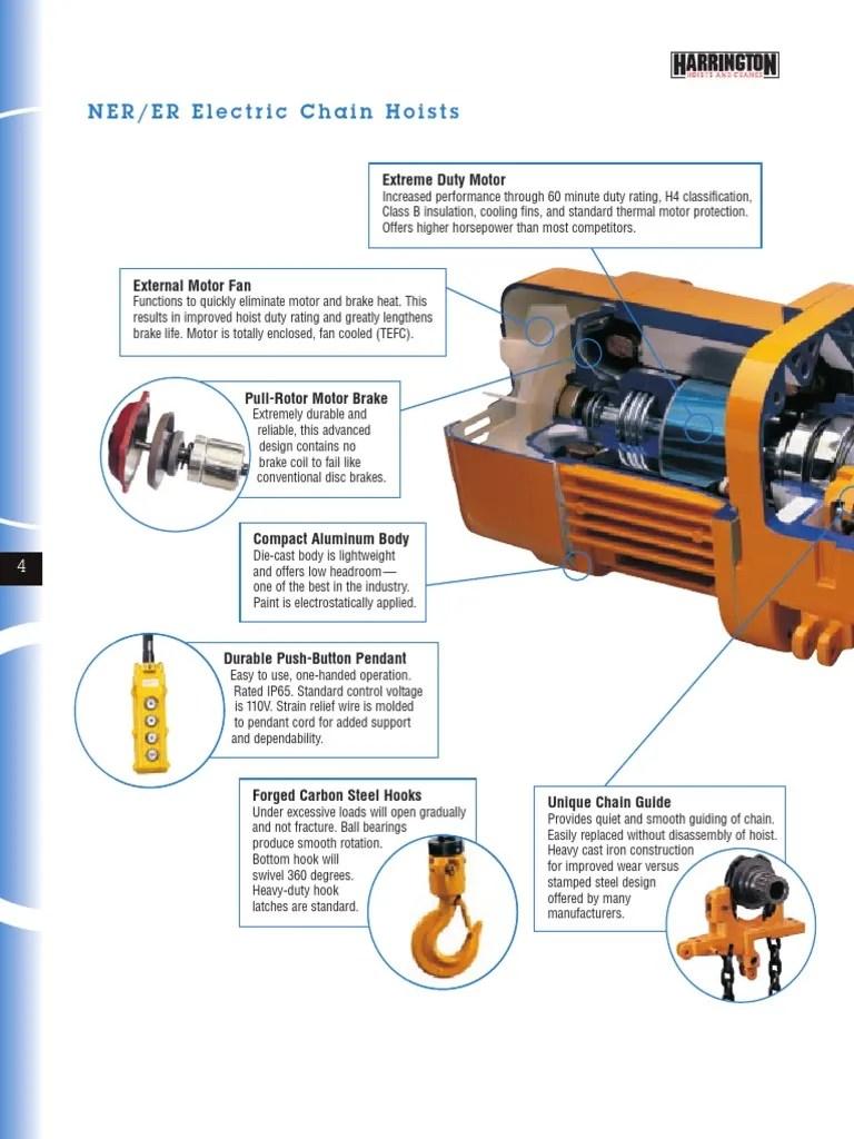 small resolution of harrington 5 ton electric chain hoist wiring diagram
