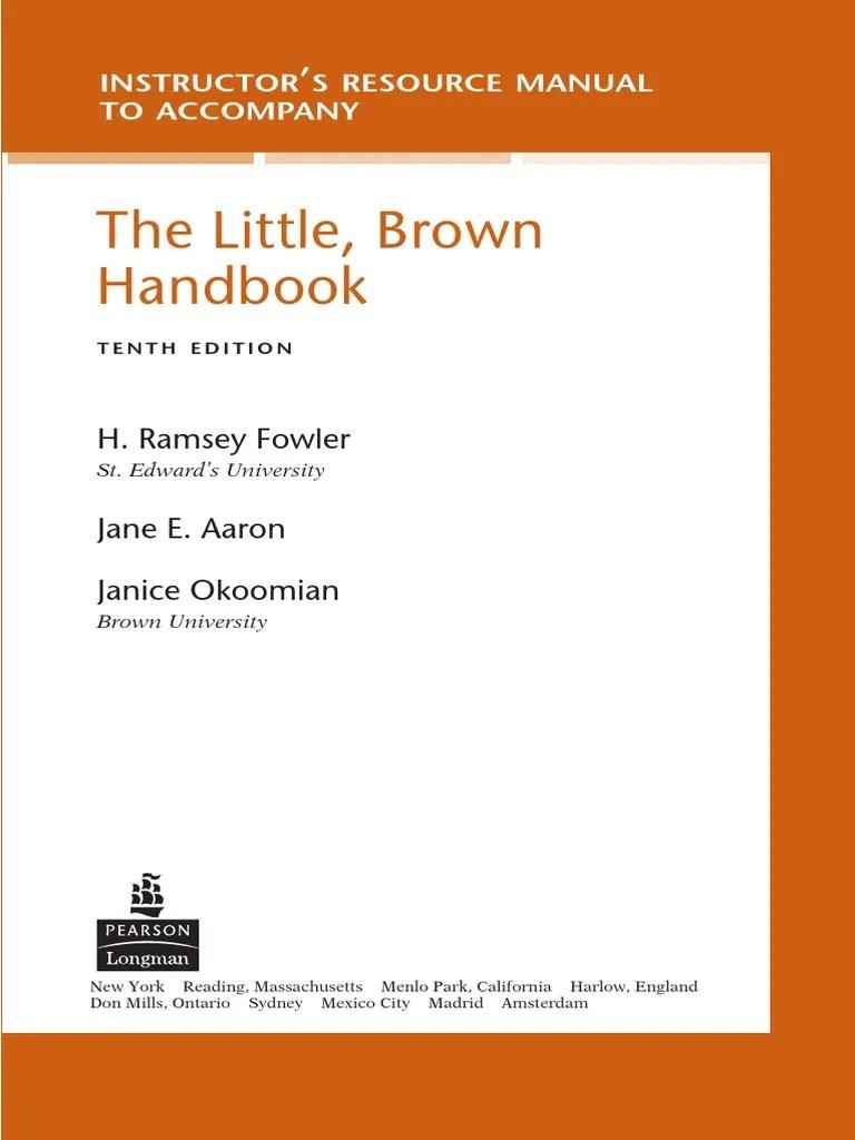 Instructors Manual Essays Rhetoric