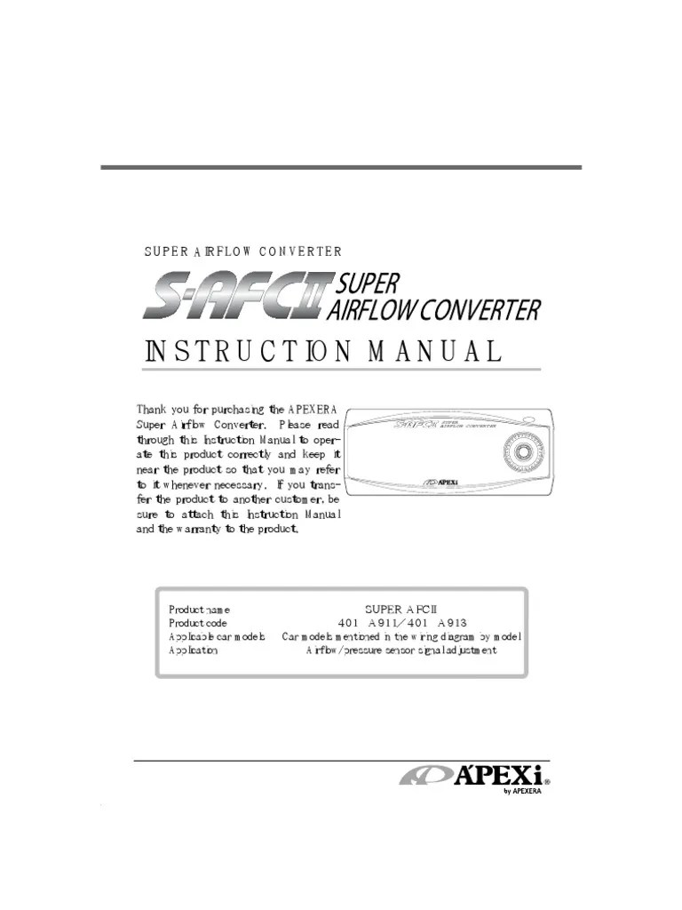 apexi installation instruction manual s afc 2 throttle switch [ 768 x 1024 Pixel ]
