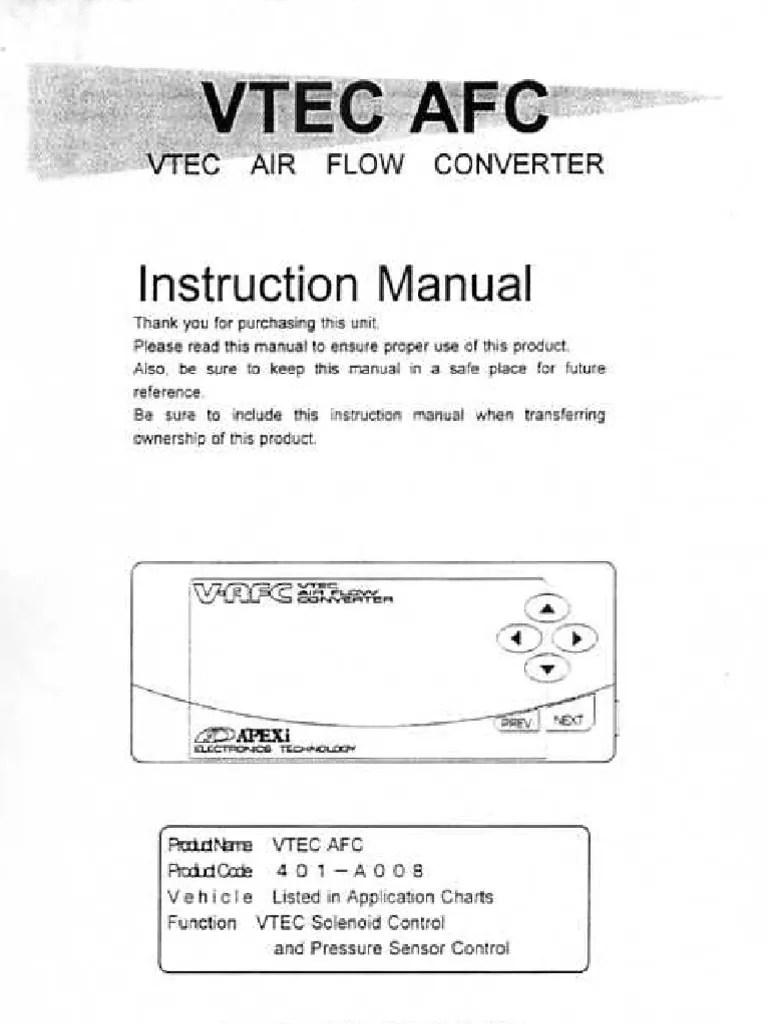 hight resolution of apexi installation instruction manual vtec air flow converter rh scribd com light switch wiring diagram apexi vafc 1 wiring diagram