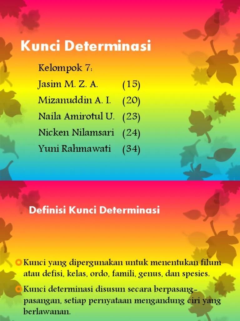 Contoh Kunci Dikotom : contoh, kunci, dikotom, Contoh, Kunci, Dikotomi, Determinasi, Ujian