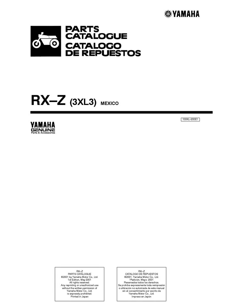 medium resolution of yamaha rxz wiring diagram pdf wiring diagram used yamaha rx z 6 speed owner