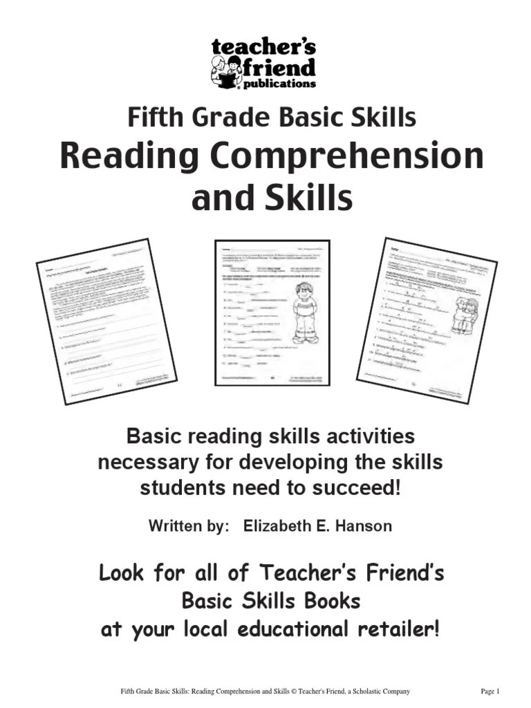 hight resolution of 5th Grade Basic Skills- Reading Comprehension and Skills   Neil Armstrong    Ivory