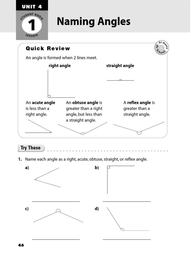 hight resolution of Naming Angles: Quick Review   Angle   Triangle