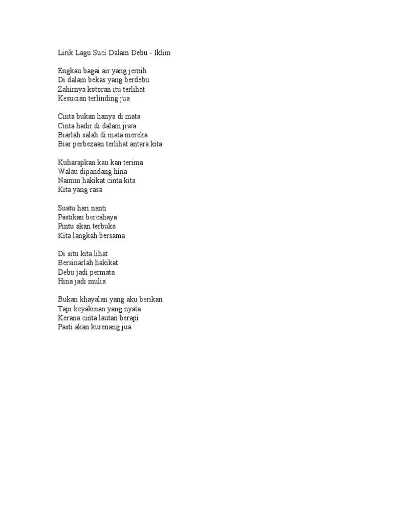 Lagu Suci Dalam Debu Mp3 : dalam, Lirik, Chord, Gitar:, Kunci, Gitar, Malaysia, Iklim, Dalam
