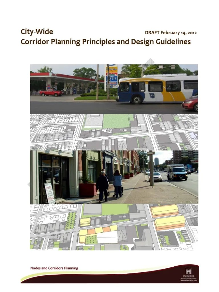 Draft Citywide Corridor Planning Principles and Guideline | Street | Land Management