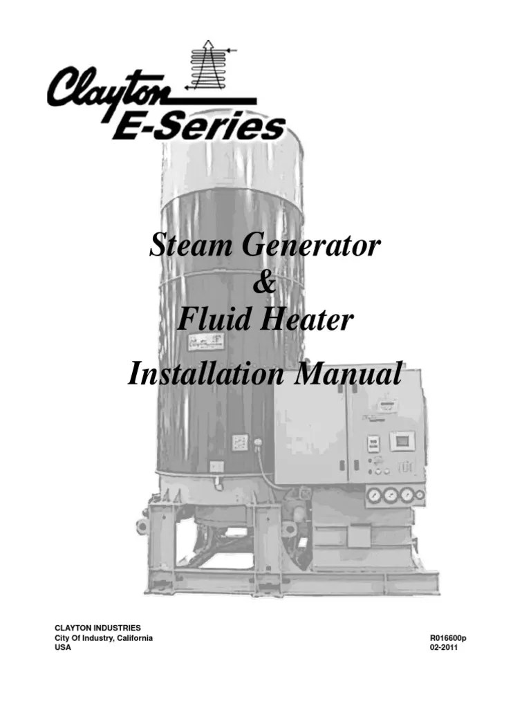 small resolution of clayton i o manual e series steam generator fluid heater r16600p pump chimney