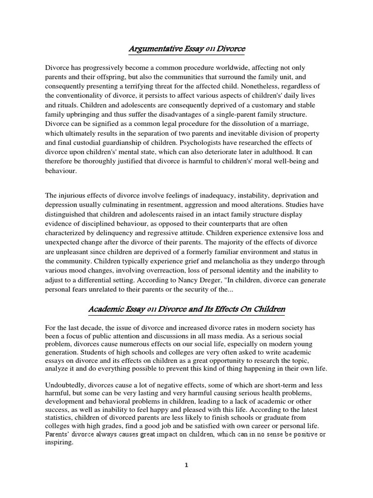 Essay About Divorce Divorce Essays Twenty Hueandi Co Divorce Essays