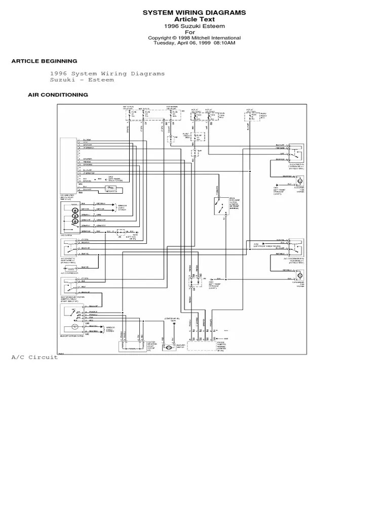 hight resolution of suzuki esteem wiring diagram product introductions vehicle technology