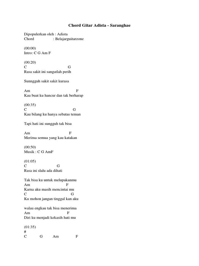 Adista Perih : adista, perih, Chord, Gitar, Adista