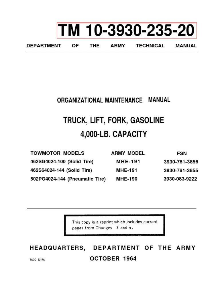small resolution of forklift maintenance manual tm 10 3930 235 20 distributor ignition system