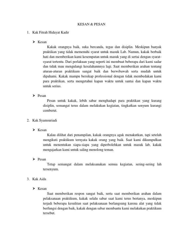 Contoh Kesan Dan Pesan Untuk Kakak Osis Smp : contoh, kesan, pesan, untuk, kakak, Contoh, Kesan, Pesan, Untuk, Kakak, Kelas, Dengan