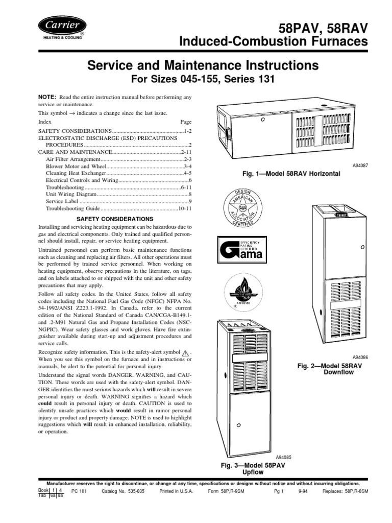 carrier ga furnace model 58 schematic diagram heater [ 768 x 1024 Pixel ]