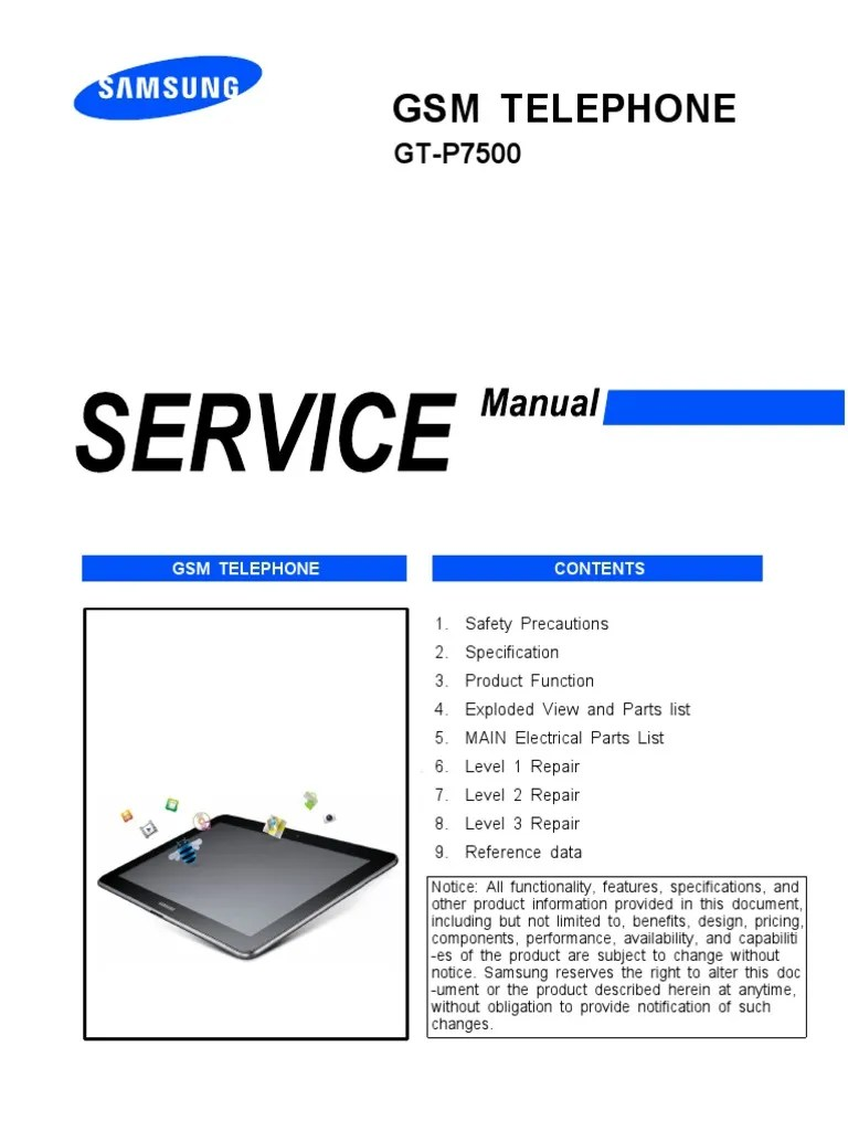 hight resolution of samsung gt p7500 galaxy tab 10 1 3g service manual electrostatic discharge electromagnetism