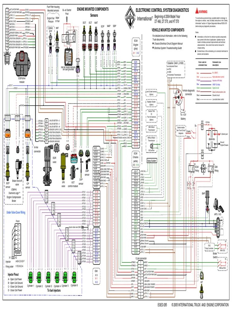small resolution of dt466e injector wiring diagram