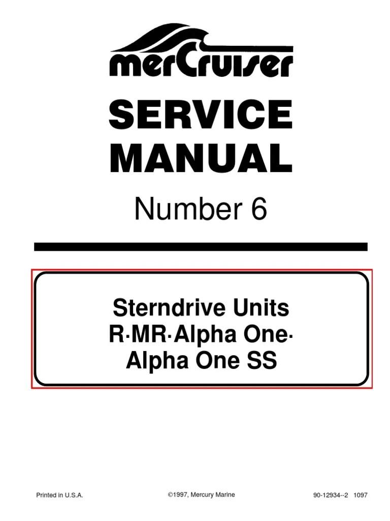 medium resolution of mercruiser service manual 6 outdrives r mr alpha one alpha ss paint nut hardware