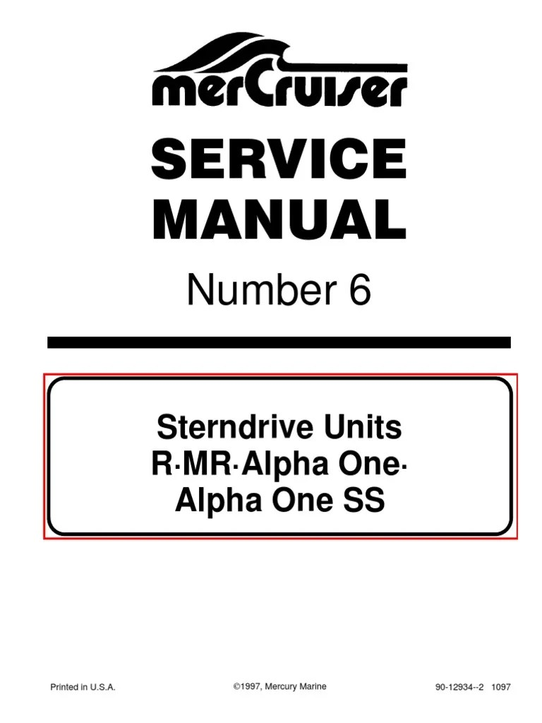 small resolution of mercruiser service manual 6 outdrives r mr alpha one alpha ss paint nut hardware