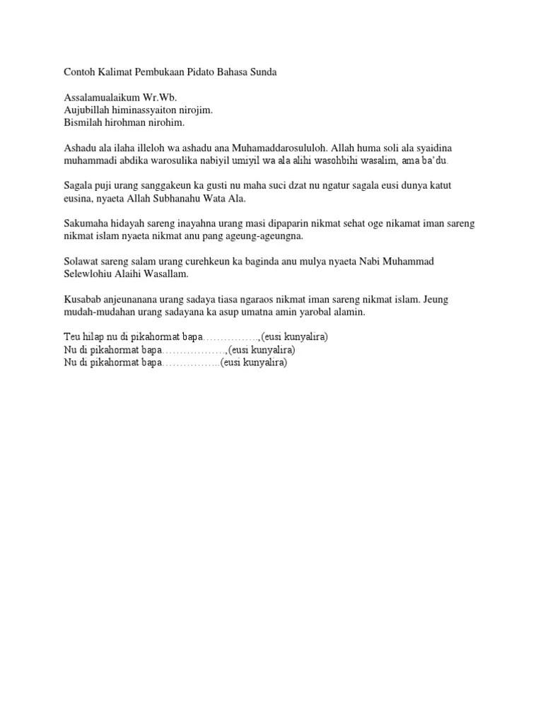 Naskah Pidato Bahasa Sunda : naskah, pidato, bahasa, sunda, Contoh, Pidato, Bahasa, Sunda, Singkat, Padat, Jelas, Cute766