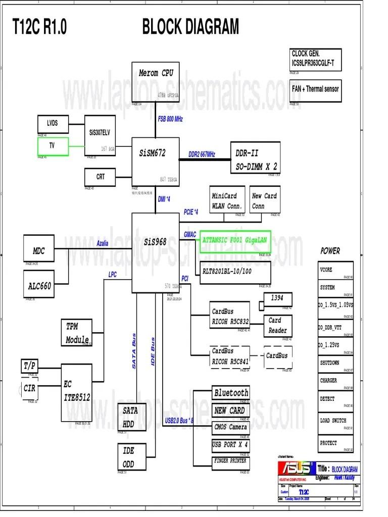 asus t12c x51c motherboard schematic diagram [ 768 x 1024 Pixel ]