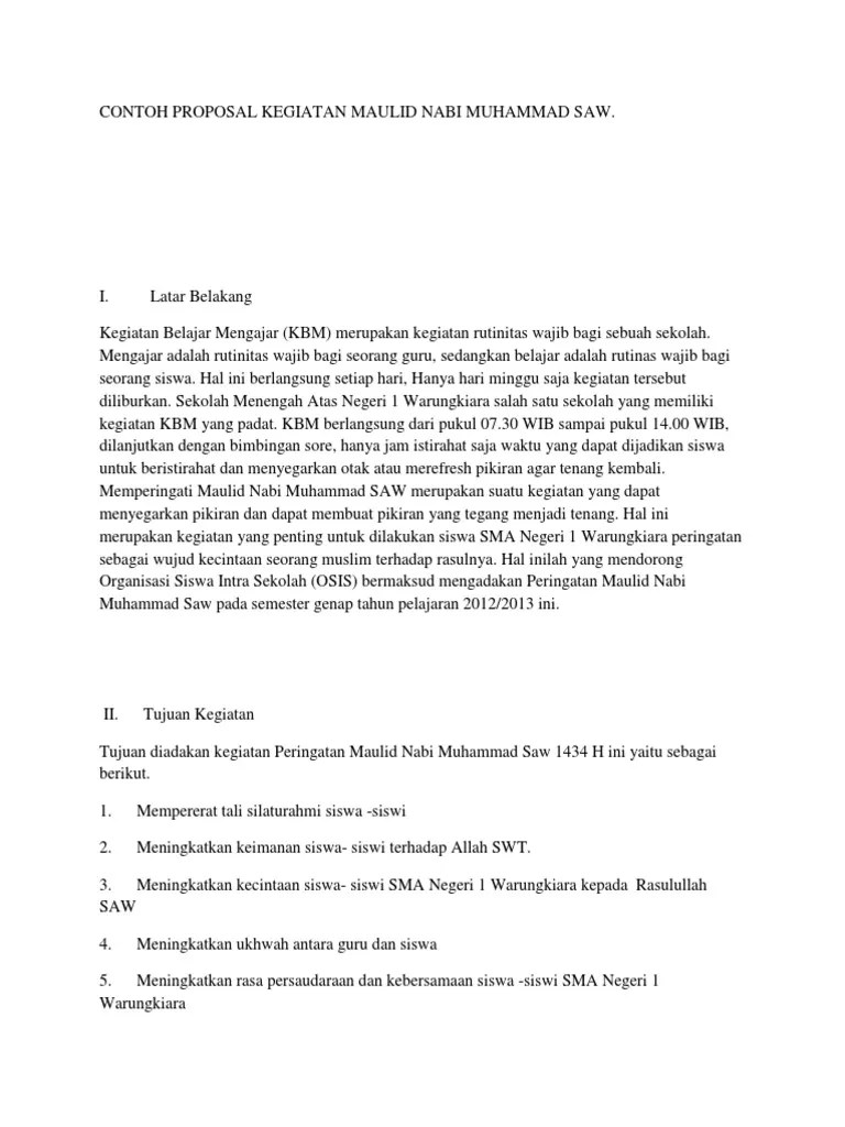Contoh Proposal Maulid Nabi : contoh, proposal, maulid, Contoh, Proposal, Kegiatan, Maulid, Muhammad