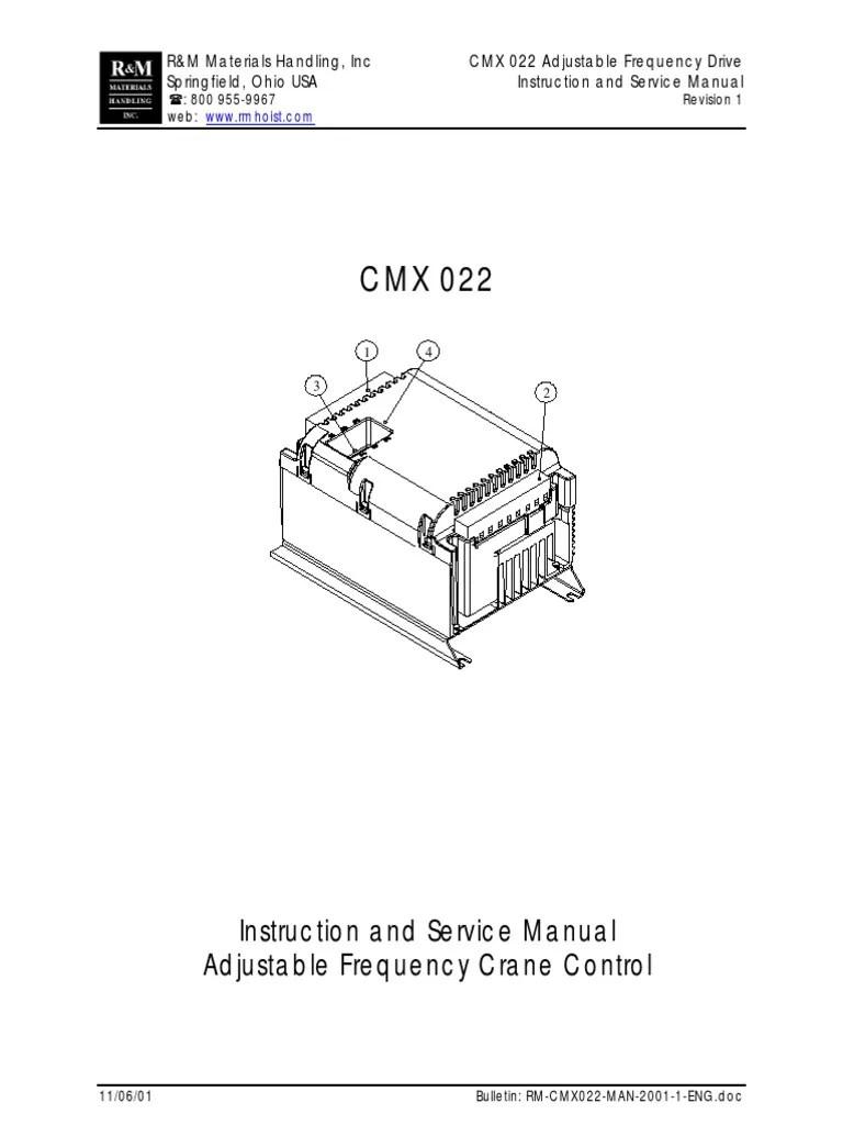 medium resolution of cmx adjustable frequency drive power inverter switch r m hoist wiring diagram