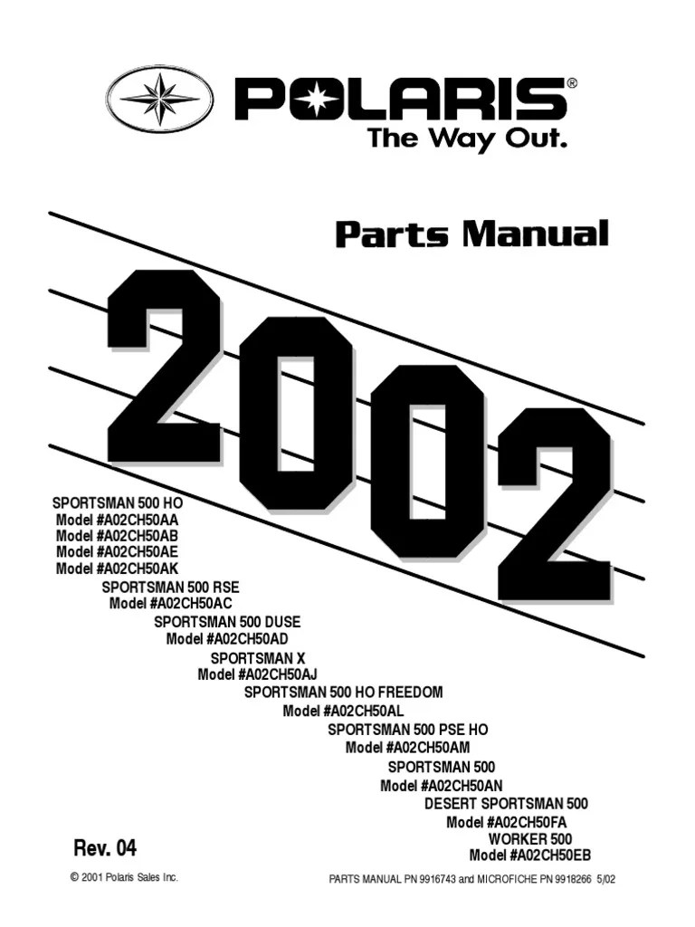 medium resolution of sportsman 500 ho rse duse 2002 parts manual screw washer hardware