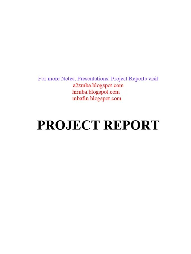 Ratio Analysis project report | Hydroelectricity | Financial Adviser