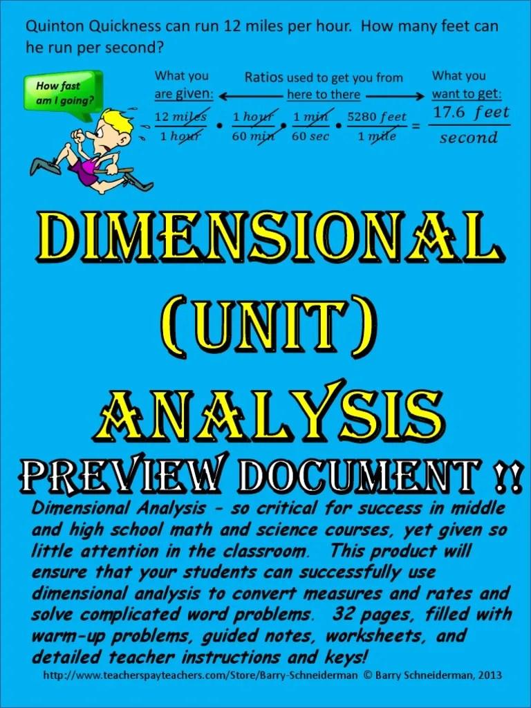 dimensional analysis preview   Fraction (Mathematics)   Ratio [ 1024 x 768 Pixel ]