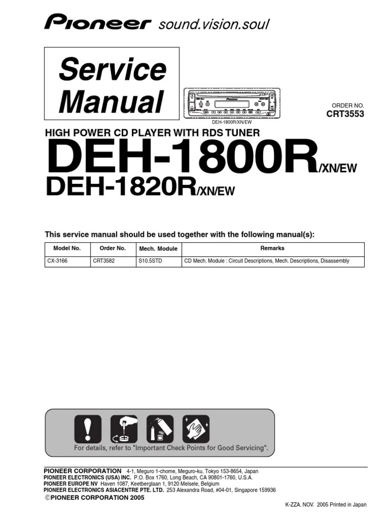 Pioneer Deh P6800mp Aux Input Wiring Diagram