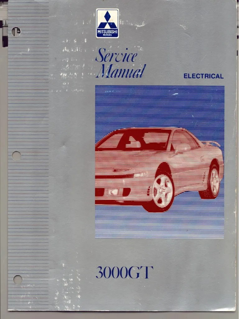 medium resolution of servicemanual mitsubishi 3000gt 1992 1996 vol 2 electrical fuse electrical troubleshooting
